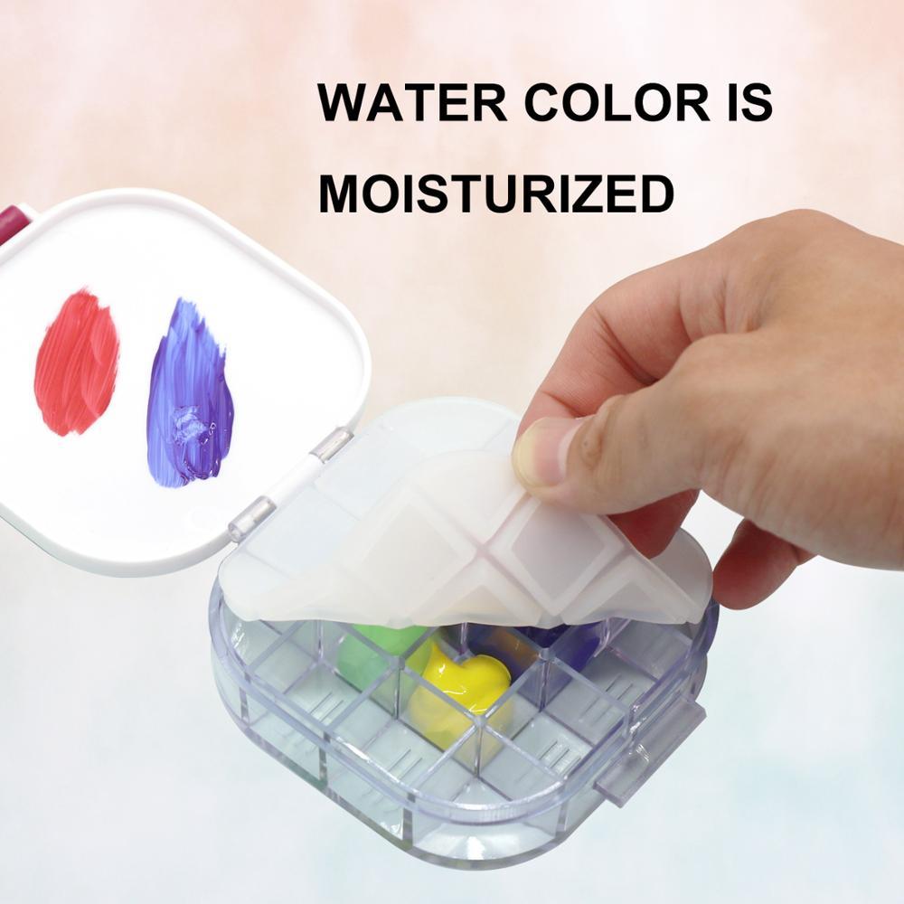 Top Sale¿Moisturizing-Tray for Watercolor-Palette Folding Bucket Art-Supplies 16grid New