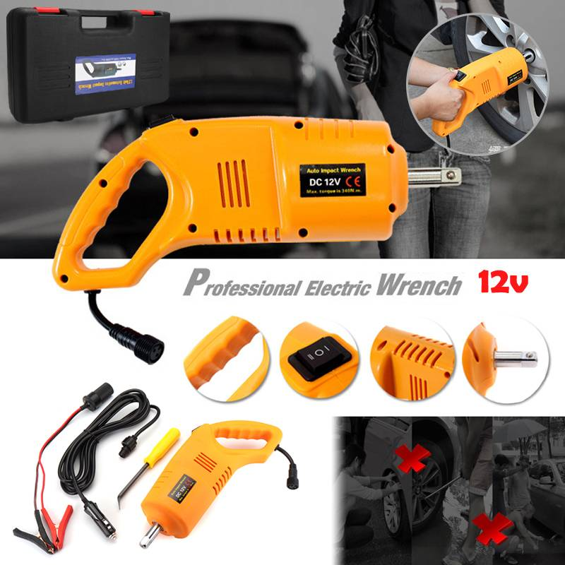 12V Electric Brushless Impact Wrench Rechargeable 1/2 Socket Wrench Cordless Impact Electric Wrench Wheel Repair Tools With Case