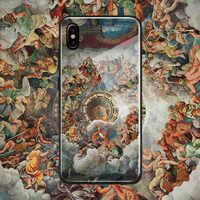 Baroque fresco painting art aesthetic soft silicone glass Phone case cover For Apple iPhone 6 6s 7 8 Plus X XR XS 11 Pro max