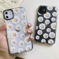 Fashion Daisy Clear Floral Phone Case For iphone 7 8 plus SE 2020 11 Pro X XS Max XR Transparent Flower Soft TPU Back Cover Case