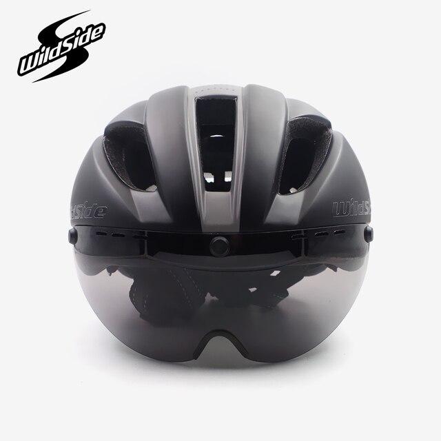 Aero capacete tt tempo julgamento ciclismo capacete para homens mulheres óculos de corrida de estrada da bicicleta capacete com lente casco ciclismo equipamentos 4