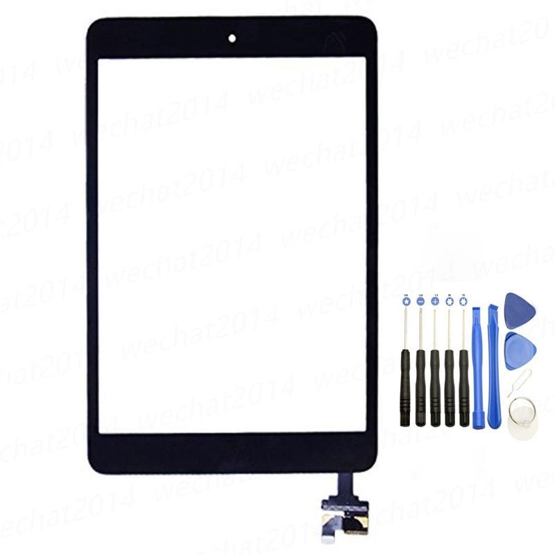 Дигитайзер сенсорного экрана с кнопкой и наклейкой IC-коннектора для iPad Mini 1 2 A1432 A1454 A1489 A149