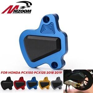 Image 1 - אופנוע הותאם CNC PCX 150 125 מנוע משמר כיסוי כרית מגן עבור הונדה PCX150 PCX125 2018 2019 חלקי