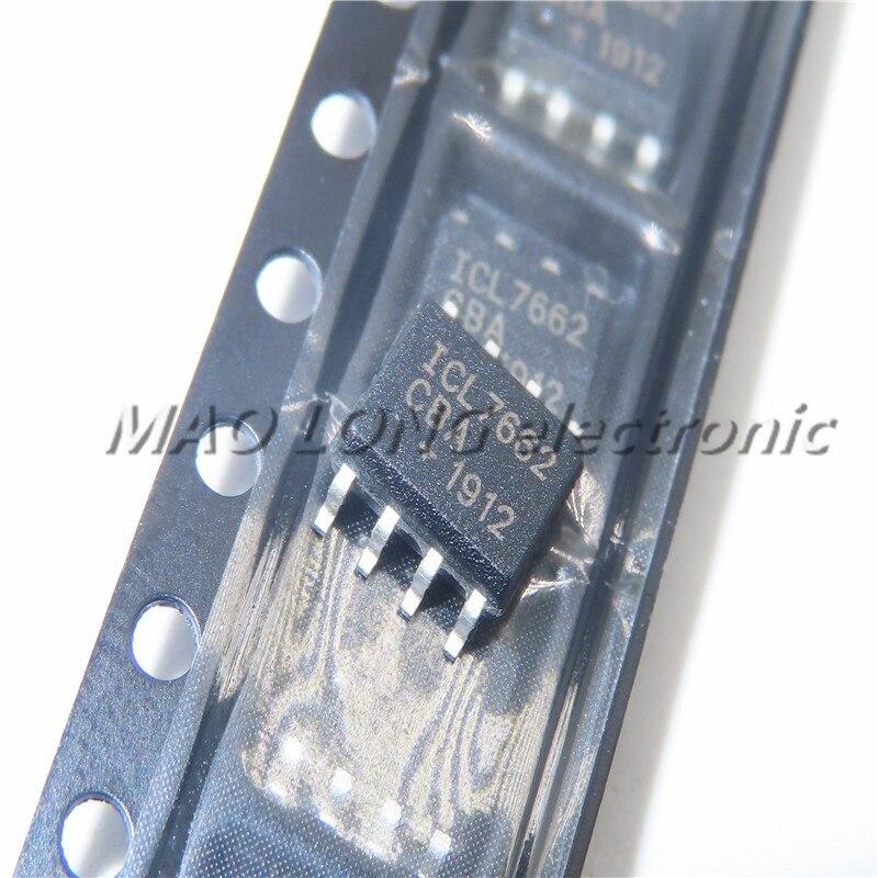 5-50 шт./лот 100% качество ICL7662CBA ICL7662 лапками углублением SOP-8 SMD переключения CMOS регулятор преобразователь напряжения чип в наличии новый оригин...