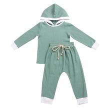 Kaiya Angel Spring Autumn Casual Sweatshirt  Boys Girls Clothes Set Rib Material Hoodies + Belt Pants Suits 0-8T 5pcs Whosale