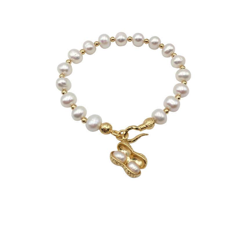 100% натуральный пресноводный жемчуг браслет для женщин, модный регулируемый браслет для женщин подарок на день рождения