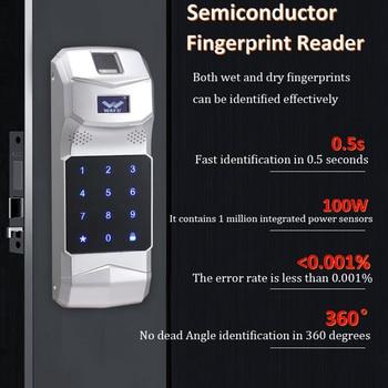 WAFU Wireless Fingerprint Keypad Password Controller 433Mhz for Remote Control WAFU Smart Door LockWF-010/WF-011