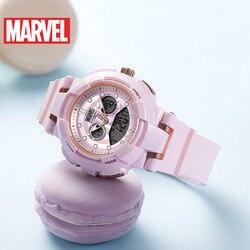 Дисней Марвел цифровые наручные часы для женщин водонепроницаемый Единорог старшеклассник спортивные электронные часы для девочек часы д...