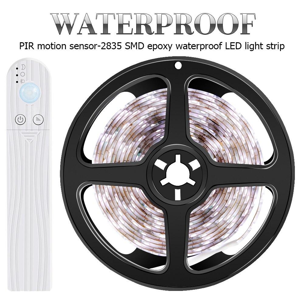 PIR LED Küche Schrank Licht Motion Sensor LED Streifen Wasserdichte Batterie Schrank Lampe Band Led-leuchten Band Dekoration Beleuchtung