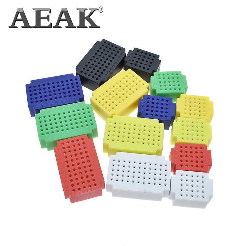 AEAK ZY-25 PCB platine de prototypage Points Solderless Mini Universel Test Protoboard kit de bricolage Planche À Pain pour arduino lego