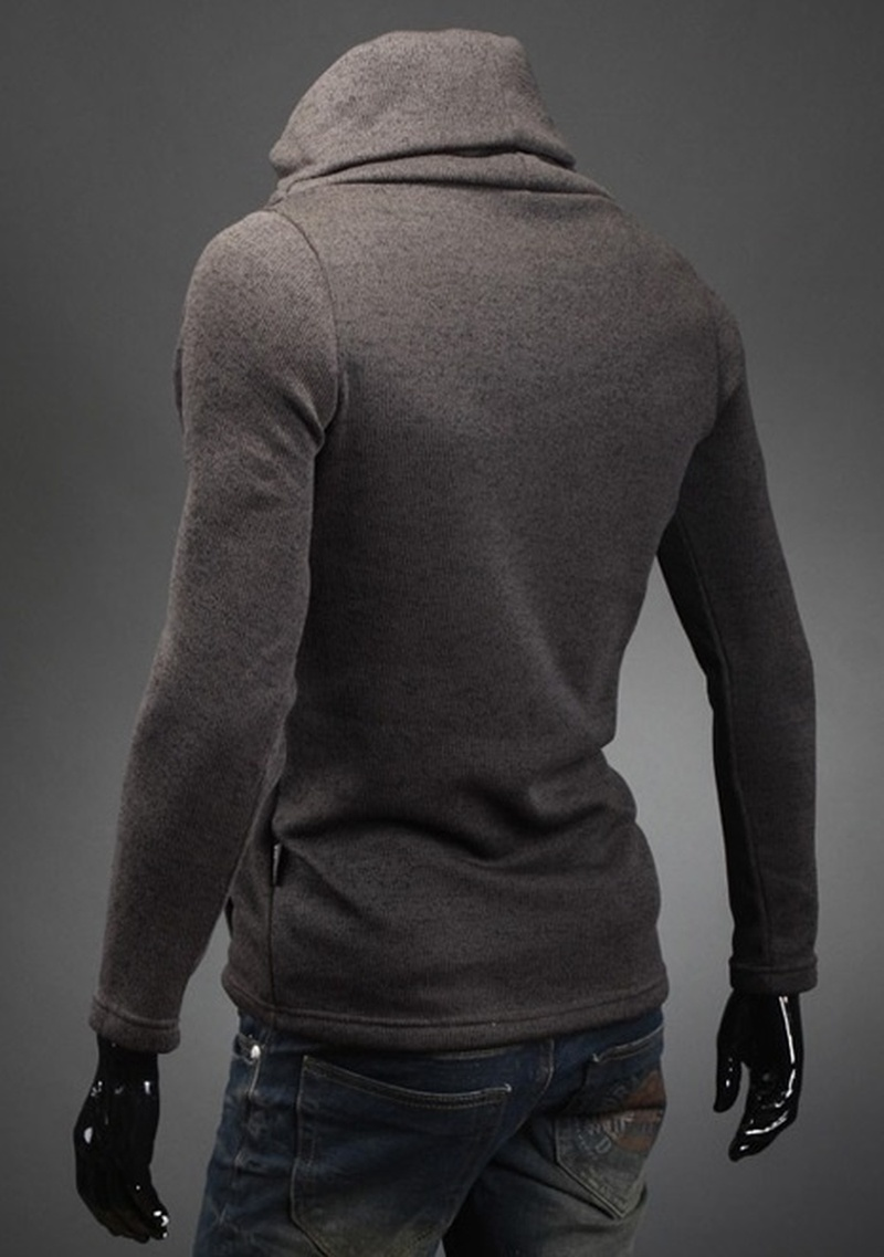 ZOGAA 2020 Men's Sweater Turtleneck Solid Color Casual Pullovers Men's Slim Fit Knitted Hip Hop Jumpers Jerseys Winter High Neck