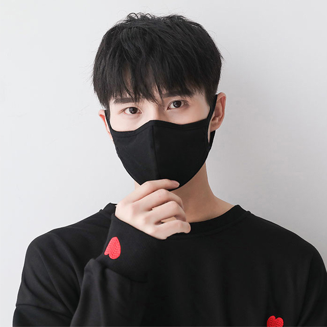 Anti dust-masks PM 2.5 mask Cotton dust  training masks wind proof mouth-muffle flu face masks Activated carbon filtration Black 3