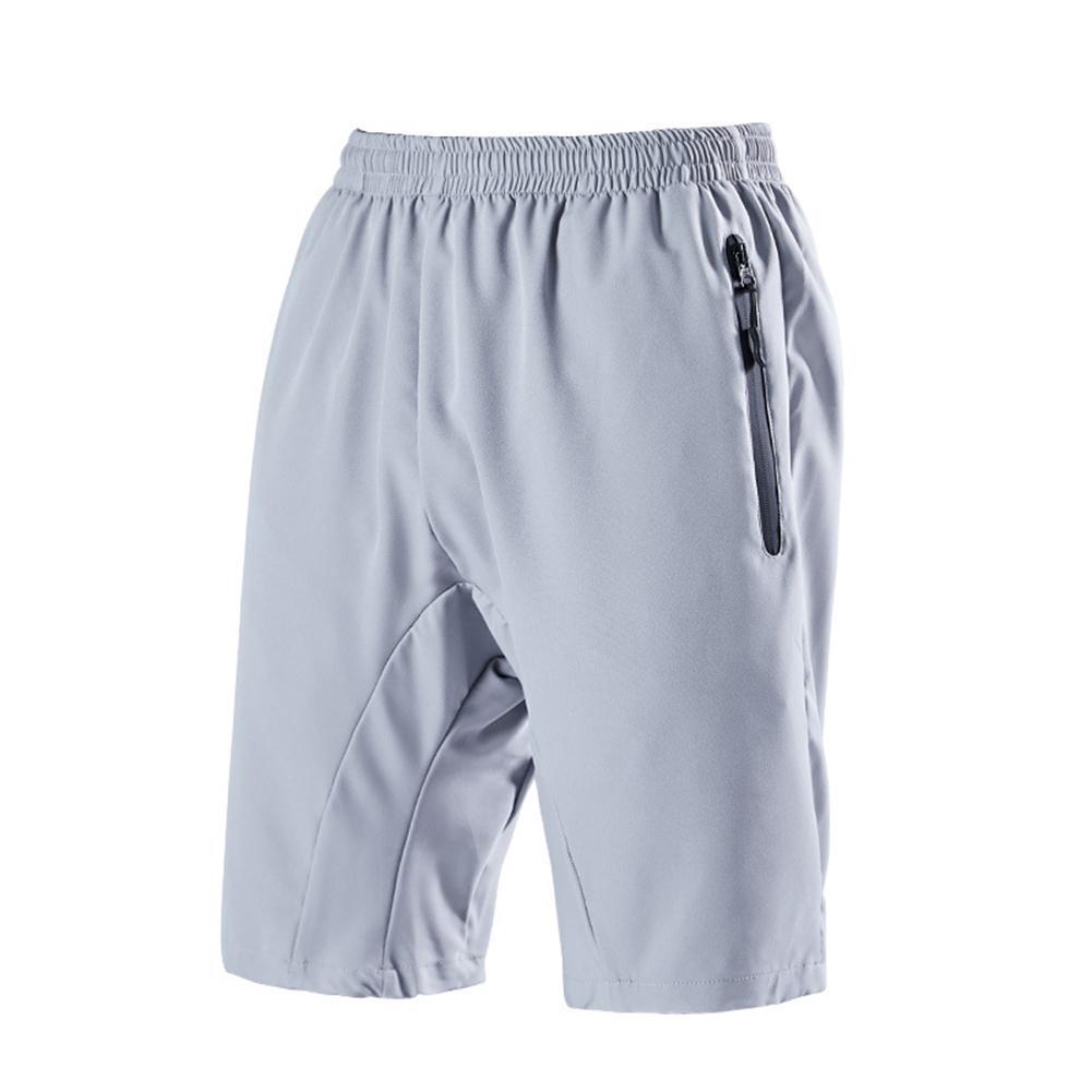 Summer Men Quick Dry Elastic Waistband Solid Color Outdoor Sports Short Pants