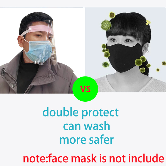 5pcs Full Face Cover Mask Clear Face Plastic Mask Transparent Mouth Cover Full Face Protect Tool Anti flu Spread 3
