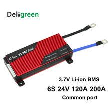 6S 120A 150A 200A 250A 24V PCM/PCB/BMS 3.7V LiNCM 배터리 팩 18650 리튬 이온 배터리 Deligreen 6S BMS