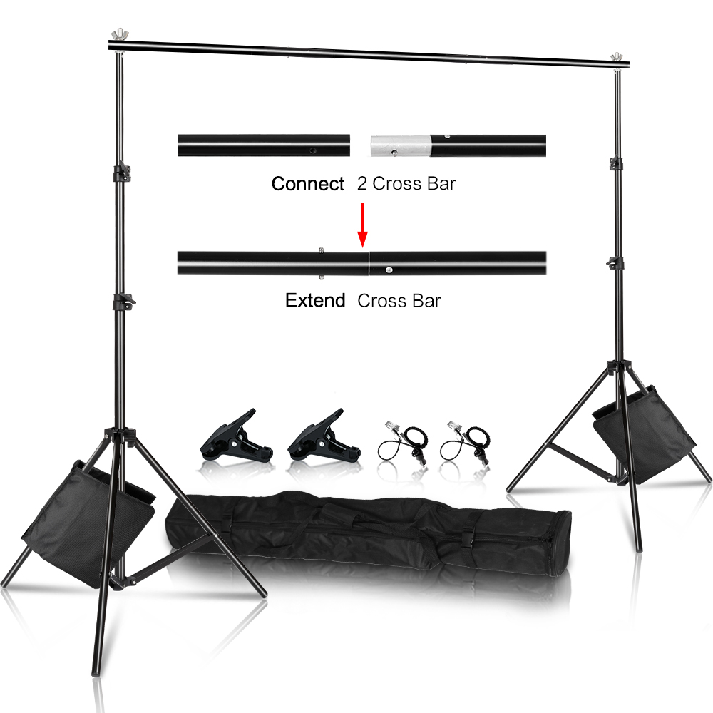 Photo Background Stand Background Backdrop Support System Kit with Sandbag,Carry Bag For Photo Studio Youtube Tiktok Photography(China)