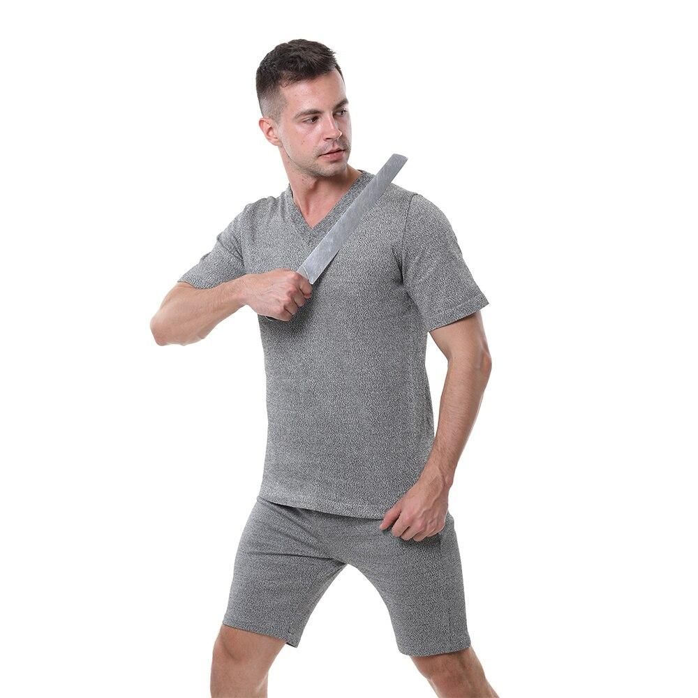 EN388 PE Material Level 4 Cut Proof Wear Slash Resistant V T-shirt Anti Cut Shirt.