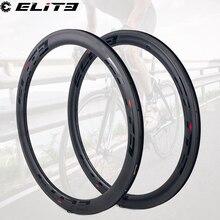 Elite 700c Carbon Road Velg V Rem Voor Bike Cycling 30Mm 35Mm 38Mm 45Mm 47Mm 50Mm 55Mm 60Mm 88Mm Clincher Tubular Tubeless