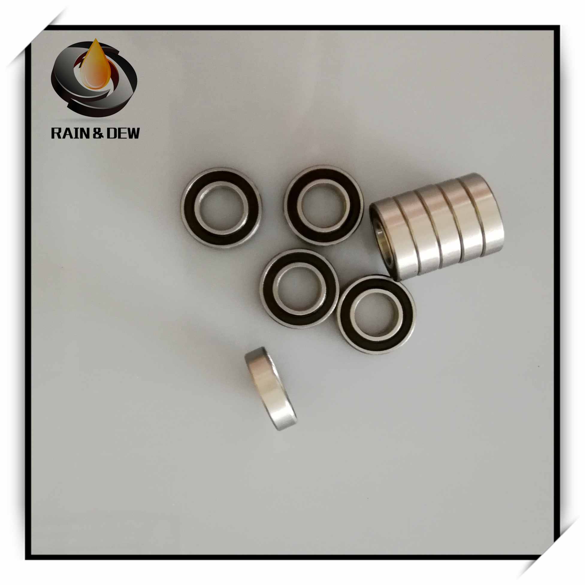 10Pcs S6802-2RS 15X24X5 mm Stainless Steel Ball <font><b>Bearing</b></font> <font><b>6802RS</b></font> Ball <font><b>Bearing</b></font> Anti rust Bicycle <font><b>Bearing</b></font> 6802 image