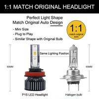 Car Headlights Lamp Car Light Source Parking 6000K 2Pcs 9005 9006 H11 55W 12V Super White Halogen Bulbs Fog Lights High Power 2