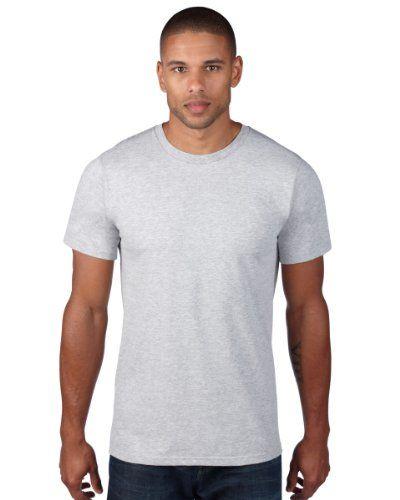 Anvil - T-Shirt - Coque - Manches Courtes - Homme Gris Large