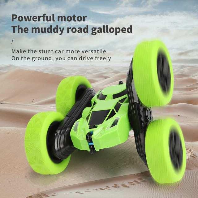 Pickwoo C7 RC Car 2.4Ghz 4CH 1:16 Stunt Drift Car Rock Crawler Remote Control Car 360 Degree Flip RC Vehicle Toys with LED Light 3