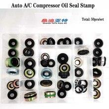Kit de sello de compresor de aceite para aire acondicionado de automóvil, 50 Uds., para fs10 7sbu16 msc90/105 A32 DKS32C 10PA15C/17C/30C V5 junta de eje