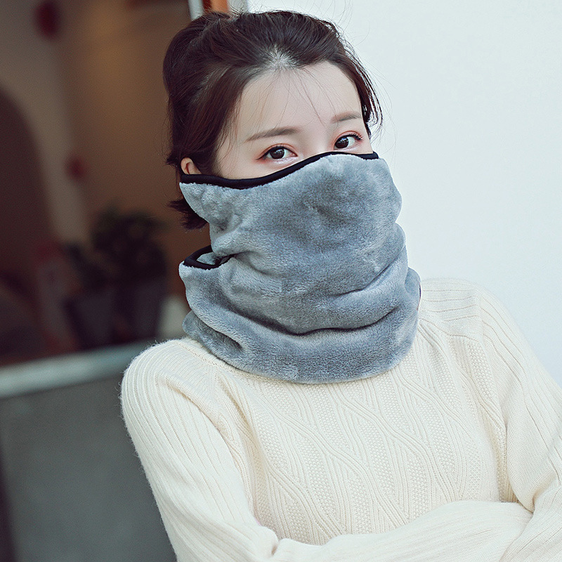 New Style Men's And Women's Children's Autumn And Winter Suede Thick Warm-in-Earmuff Neck Guard Scarf Masks