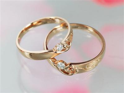18K or jaune diamant mariage Couple bague ensemble pour le marié 0.07 + 0.06ct diamant naturel fait à la main gravure