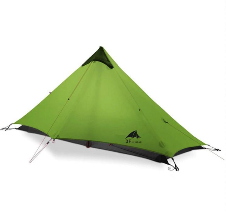 3F UL GEAR LanShan 1 Outdoor Ultralight Camping Tent 1 Person 3  Season Professional 15D Silnylon LanShan1 Rodless TentTents   -