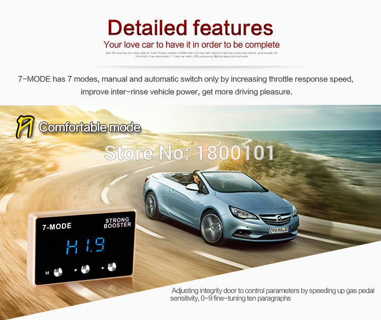Auto Sprint Booster pedal bildeler Elektronisk gassregulator for - Bildeler