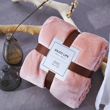 Pink Coral Fleece Blanket Soft Warmer Thicken Flannel Blanket on the Bed Plaid for the Sofa Flannel Coverlet free shipping baby blanket coral fleece flannel blanket bedding thicken air condition plaid cartoon blankets 200cmx230cm