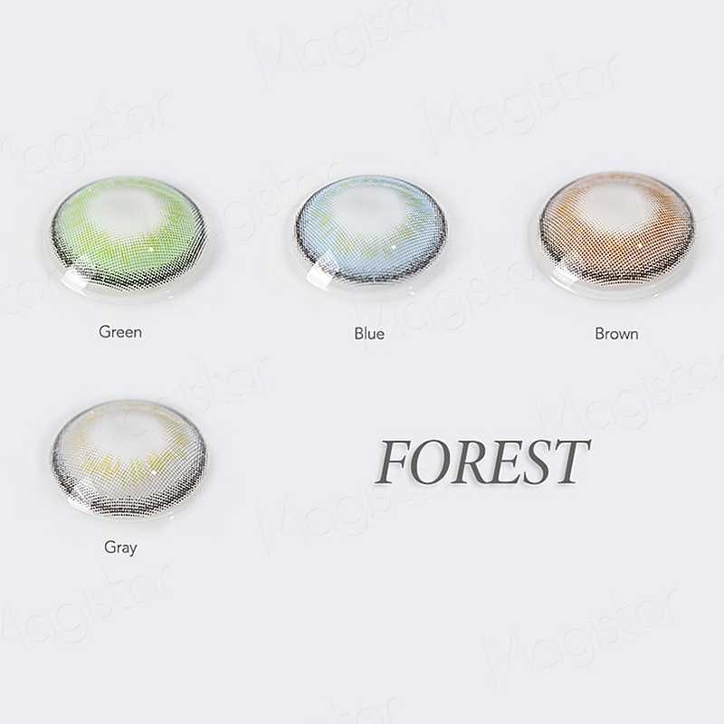 Rừng Series Màu Kính Áp Tròng Hàng Năm Màu Sắc Kính Mắt Trang Trí Màu Danh Bạ 14.2 Mm Đẹp Học Sinh