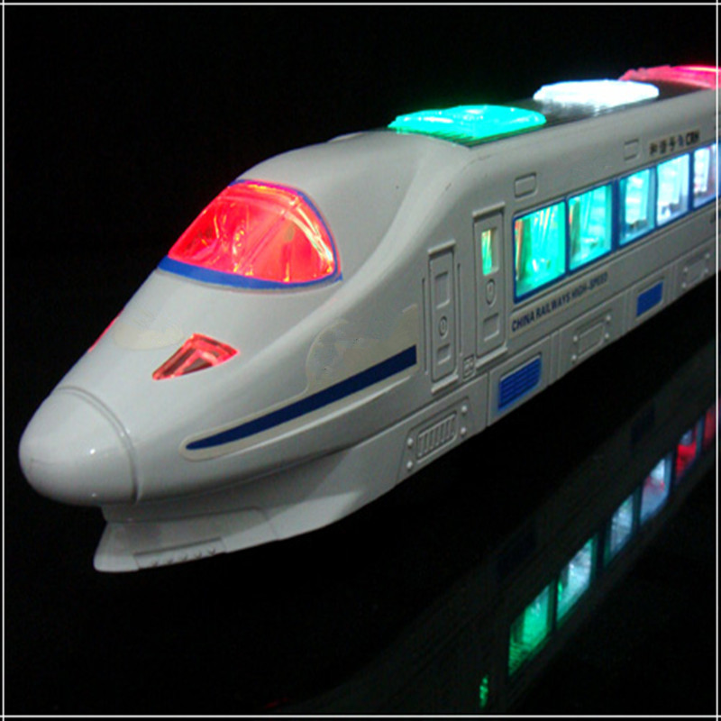 Stall Hot Selling Toy Electric Universal High-Speed Harmony Train Model Music Flash Children Gift