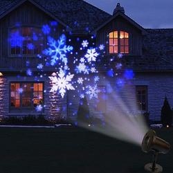 Thrisdar 눈송이 레이저 프로젝터 램프 강설량 led 무대 조명 야외 크리스마스 파티 풍경 잔디 강설량 빛