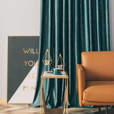 Nordic Curtains For Living Room Bedroom Simple Modern Light Luxury Dark Green Velvet Blackout Curtains Luxury High End Flannel Curtains Aliexpress