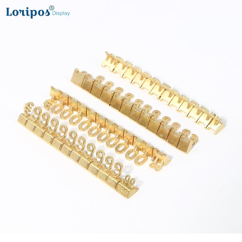 Metal Mould Assembly Price Number Tag 8mm Height Digit Cube Phone Watch Jewelry Shop Counter Price Number Sign Lable 10sets/lot