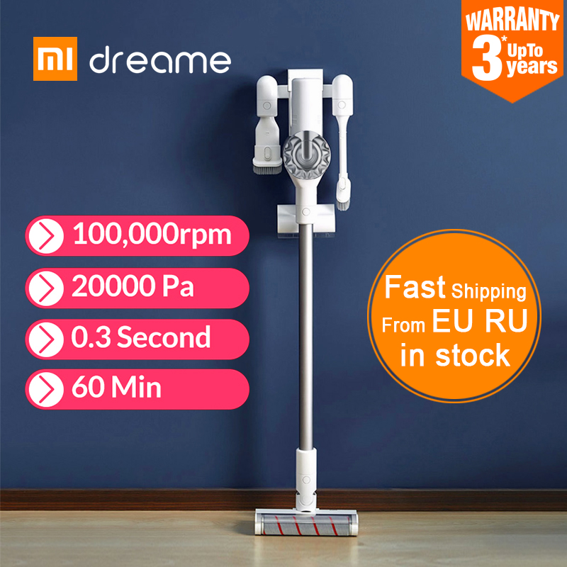 XIAOMI MIJIA Dreame V9 Pro Handheld Vacuum Cleaner For Home Car Wireless 20000Pa cyclone Suction Multi functional Sweeping BrushVacuum Cleaners   -