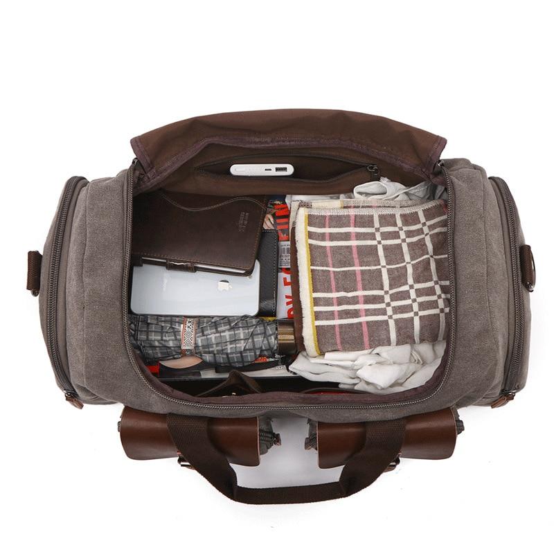 Европейская и американская дорожная сумка, Холщовая Сумка, дорожная сумка, мужская сумка на плечо, сумка мессенджер - 3
