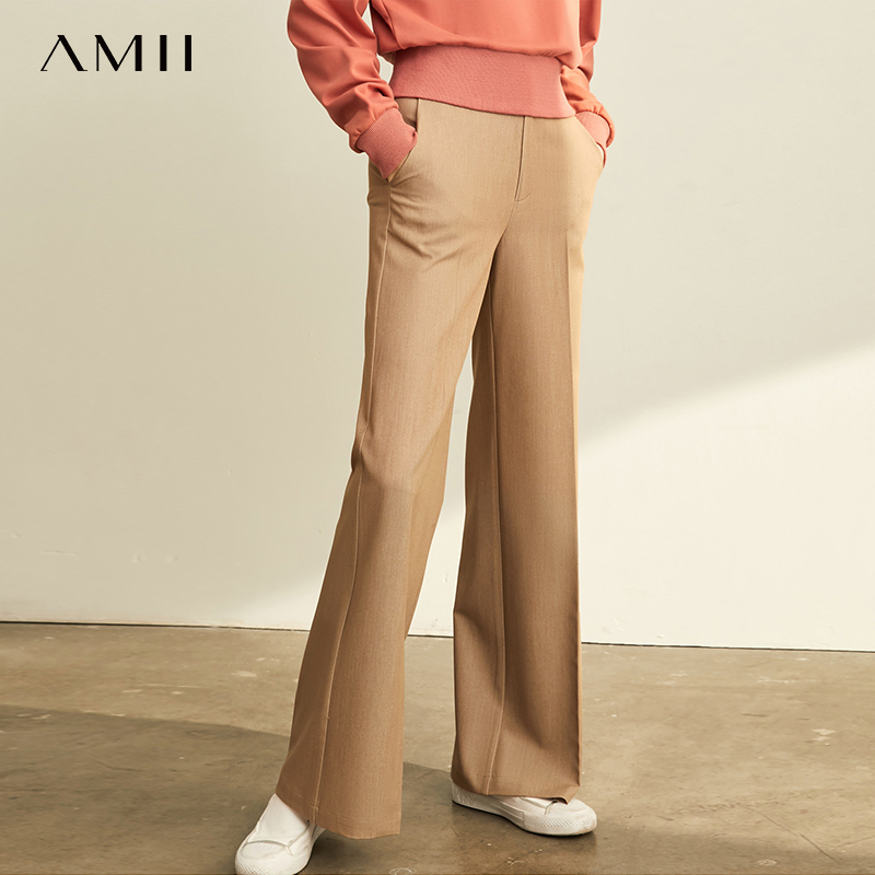 Amii Korean Fashion Casual Pants Pants Women 2019 New Wide Leg Pants High Waist Straight Tube High Slimming Pants 11960738