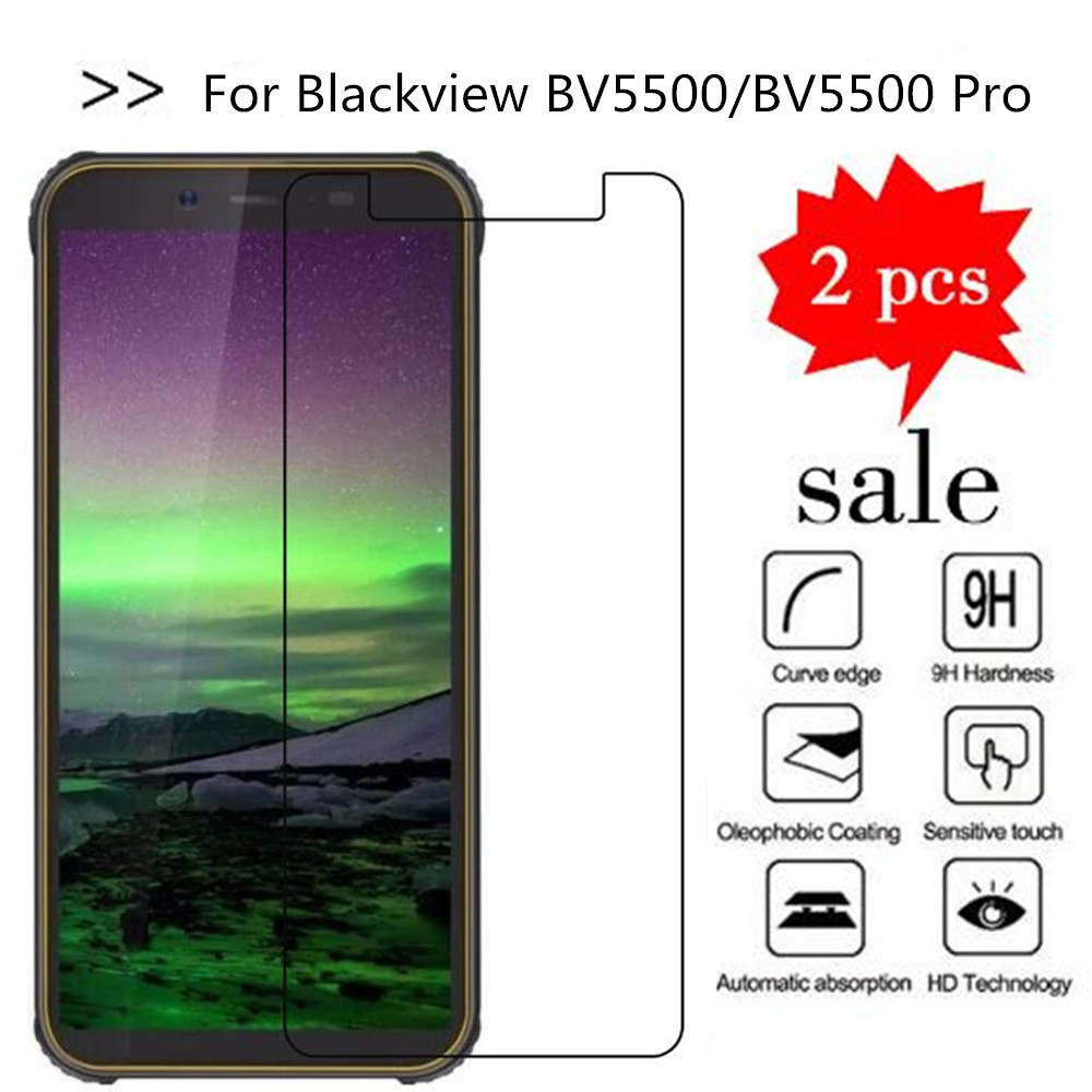 2PCS Glass For <font><b>Blackview</b></font> <font><b>BV5500</b></font> Screen Protector Tempered Glass For <font><b>Blackview</b></font> <font><b>BV5500</b></font> Glass <font><b>Blackview</b></font> <font><b>BV5500</b></font> <font><b>Pro</b></font> Protective Film image