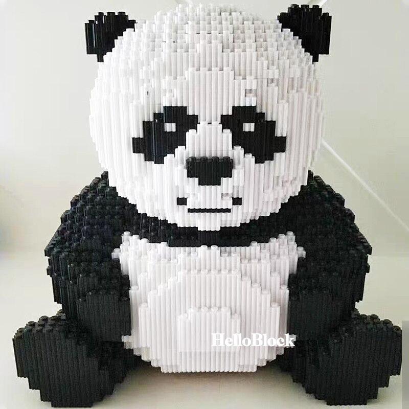 7822 pçs criador diy assemable animal bonito panda blocos de construção educacional menino brinquedos para crianças 3d modelo mini tijolos diamante