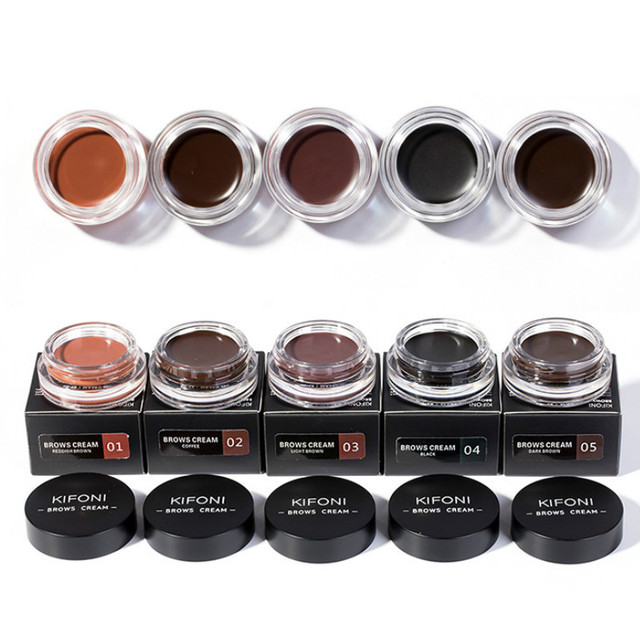 5 Color Eyebrow Tint Makeup Waterproof Eyebrow Pomade Gel Enhancer Cosmetic Eye Makeup Eye Brow Cream with Brush Professional 4