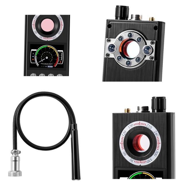 K68 Wireless RF finder Anti - Spy Mini Camera Detector bug locator Radio Scanner Hidden tracker audio privacy Security Scanner 6