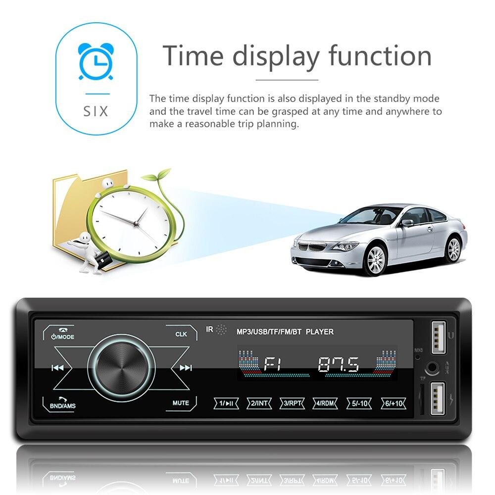 Автомобильный Радио стерео MP3 плеер цифровой Bluetooth 60Wx4 FM Аудио Музыка USB/SD с в тире AUX вход