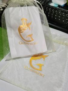 """Image 5 - Bolsa con cordón de Organza, 40x60cm (15 6/8 """"x23 4/8""""), paquete de 50 bolsas de almacenamiento de envases de regalo más grandes"""