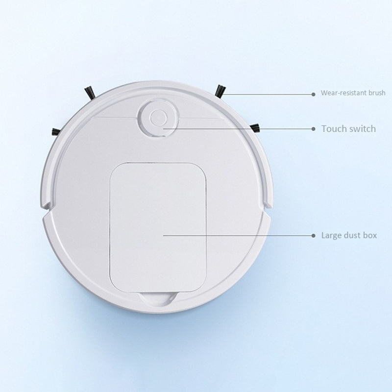 Sweeping Robot Vacuum Plan Route Cleaner 3 in 1 Pet Hair Home Dry Wet Mopping Cleaning Robot Usb Charge Vacuum - 3