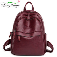 Women Backpack Women Leather Travel Backpack mochila mujer school bags for teenage girls Preppy Female shoulder bag Sac A Dos