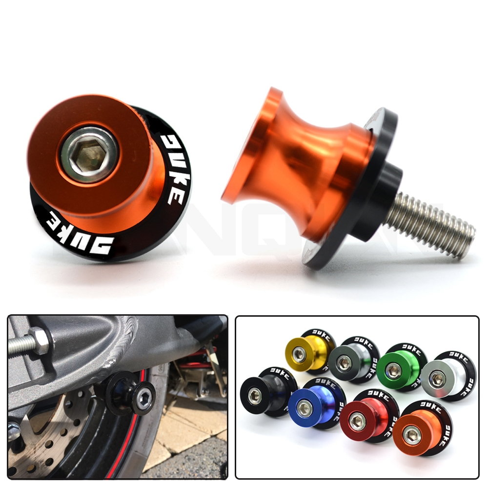 For KTM DUKE 125 Duke 200 Duke 390 690 790 990 Accessories 10MM Motorcycle Swingarm Spools Stand Screws Slider in Covers Ornamental Mouldings from Automobiles Motorcycles