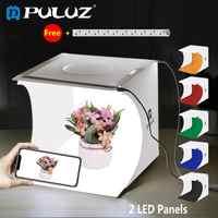 PULUZ 2LED Lightbox Light box Mini Photo Studio Box 1100LM Photography Box Light Studio Shooting Tent Box Kit &6 Color Backdrops